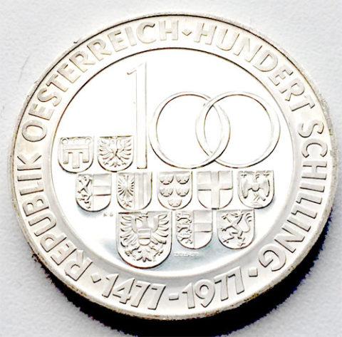 Oesterreich 100 Schilling Silber