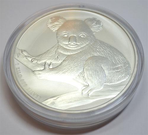 Australien Koala 2009 1kg Feinsilber 999 Bullion Münze Nes
