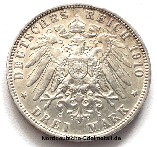 Deutsches Reich 3 Mark Hansestadt Hamburg