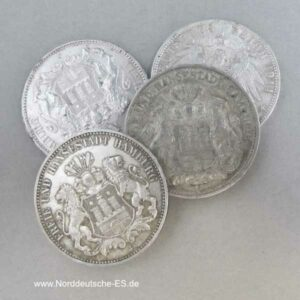 Deutsches Reich 3 Mark Hansestadt Hamburg Silbermünze