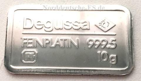 Platinbarren 10 Gramm 9995