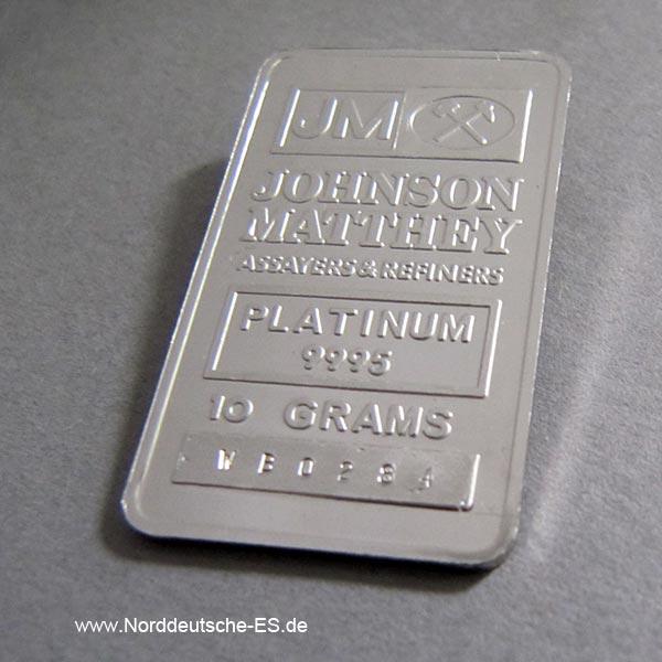 Platinbarren 10 Gramm 9995 diverse Hersteller