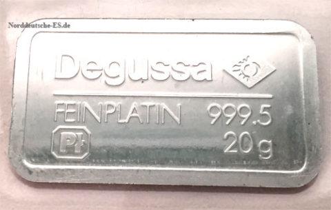 Platinbarren 20 Gramm 9995