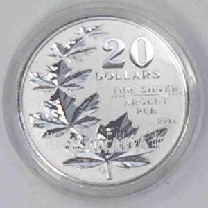 Kanada 20 Dollar Silbermünze 2011