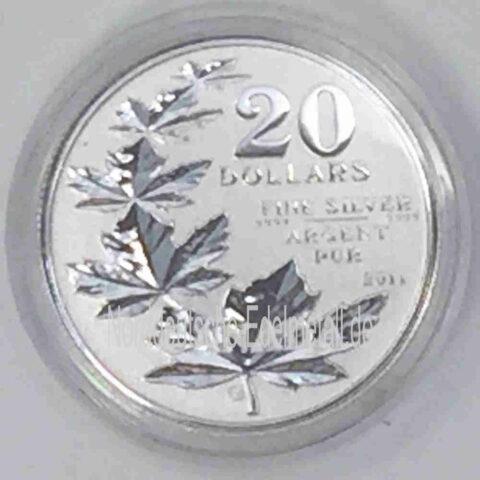 Kanada 20 Dollar Silber 999 mit 5 Maple Leaf Blättern von 2011