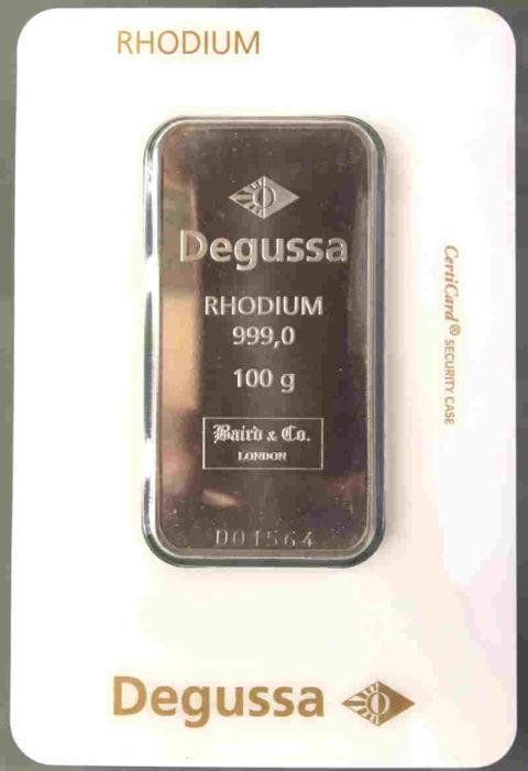Rhodiumbarren