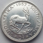 Suid-Africa-5 Shilling-Springbok 1957
