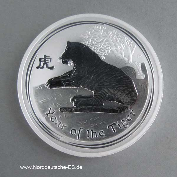 Australien Year of the Tiger 1 oz Feinsilber 2010