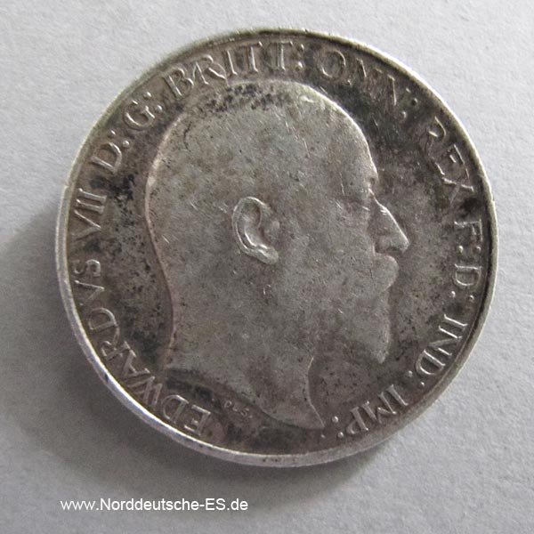 England Two Shillings One Florin 1906 Edward VII