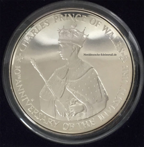 Jamaica 25 Dollars Silber 4 oz Charles Prince of Wales 1979