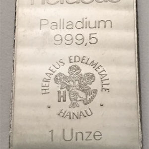 Palladiumbarren 1 oz Heraeus