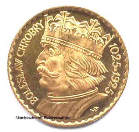 Polen 10 Zloty 1925 Boleslaw 900 Jahrestag Goldmuenze