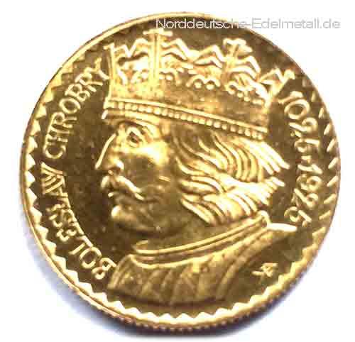 Polen 20 Zloty Goldmuenze 1925 Boleslaw 900 Jahrestag - Historisch
