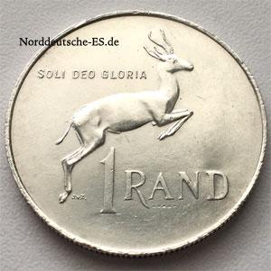 Sued-Afrika 1 Rand Silber 15 g Sammlermünze von 1967