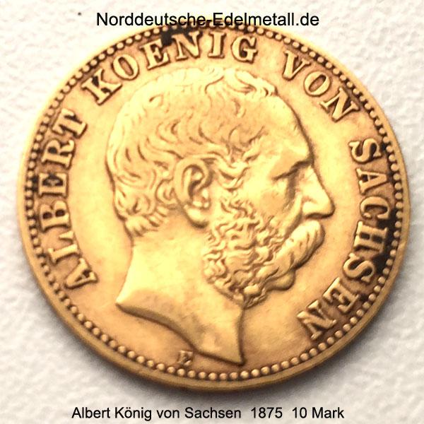 Deutsches Reich 10 Mark Albert Koenig von Sachsen