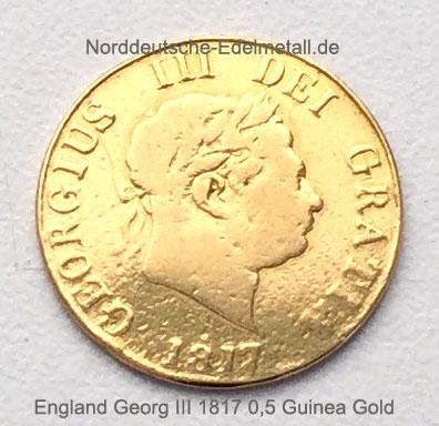 England 0_5 Guinea 1817 Goldmuenze