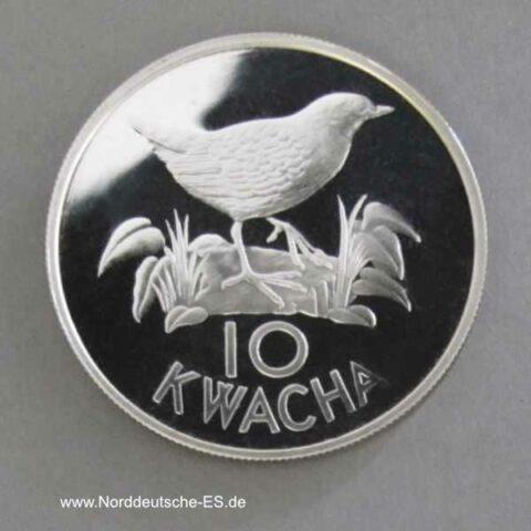 Sambia 10 Kwacha 1986 Spiegelralle
