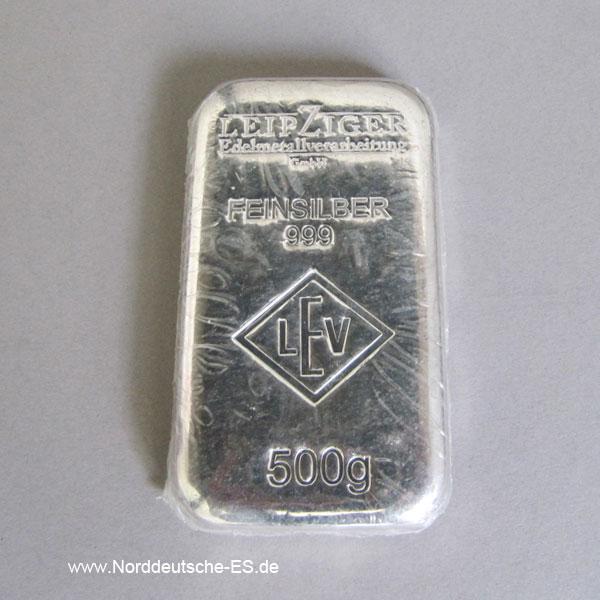 Silberbarren 500g Feinsilber 999 - diverse Hersteller