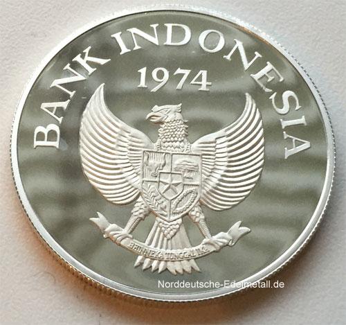Indonesien-5000-Rupiah-Orang-Utan-Silbermuenze