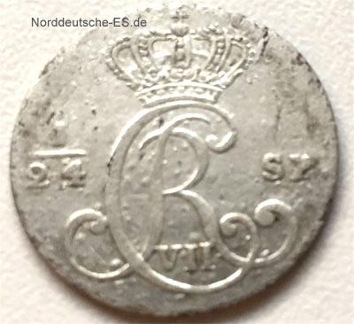 Koenigliche Linie Schleswig Holstein 2 1_2 Schilling Courant 1796