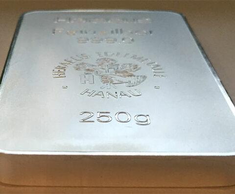 Silberbarren 250g Feinsilber 999