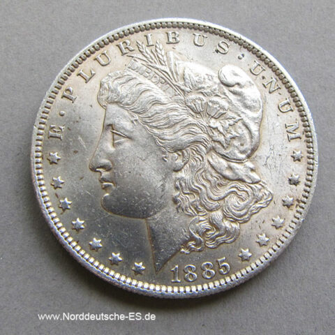 USA 1885 Morgan Dollar Silber Liberty