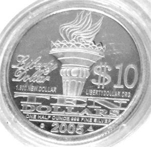 USA One Half Dollar Feinsilber 999