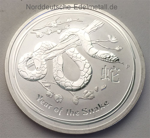Australien Year of the Snake 2oz Feinsilber 999