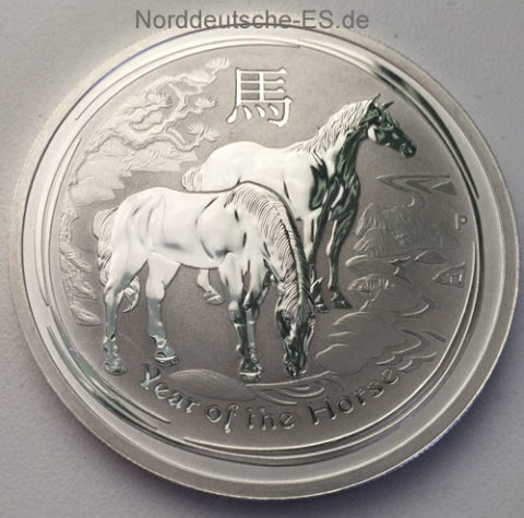 Australien 2014 Year of the Horse 1oz Feinsilber 999