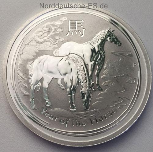 Australien 2014 Year of the Horse 1oz Feinsilber 999
