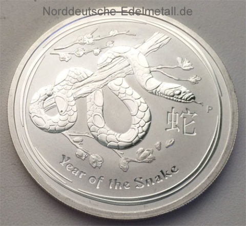 Australien Year of the Snake 1oz Feinsilber 999