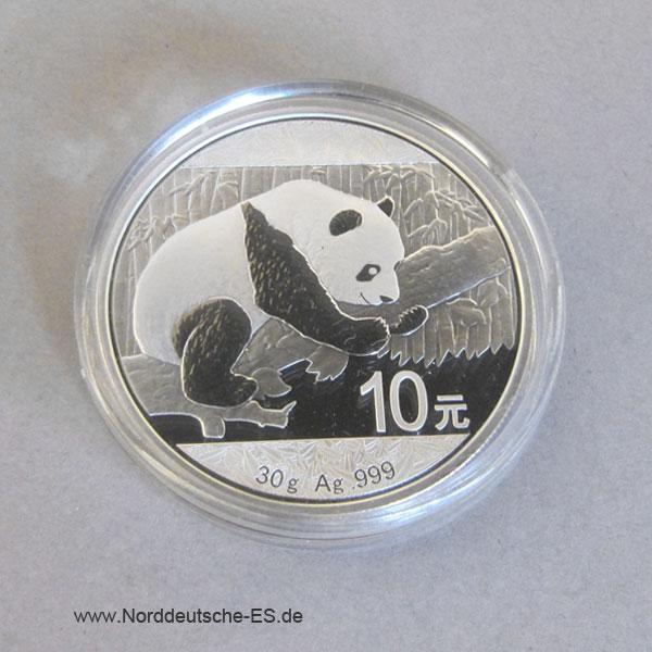 China Panda 10 Yuan 2016 Feinsilber 30g