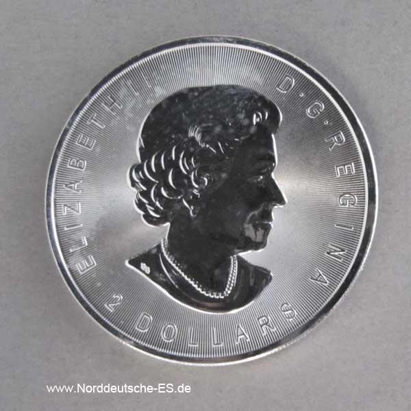 Kanada 2 Dollars Silber Wolf 3_4 oz Feinsilber 9999 Anlagesilber