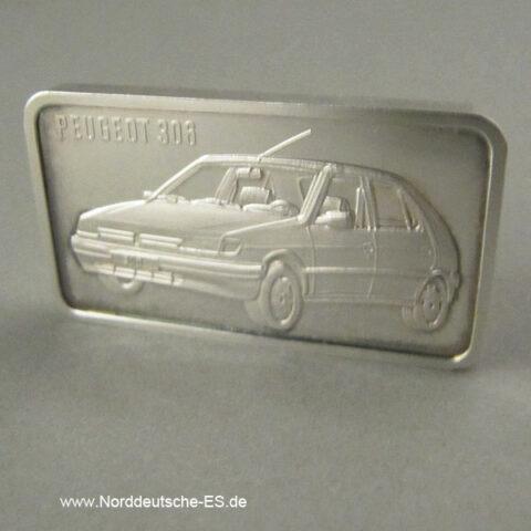 Silberbarren 1 oz Feinsilber 999 PeugeotHeraeus differenzbesteuert