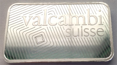 Silberbarren 100g Feinsilber 999 Valcambi