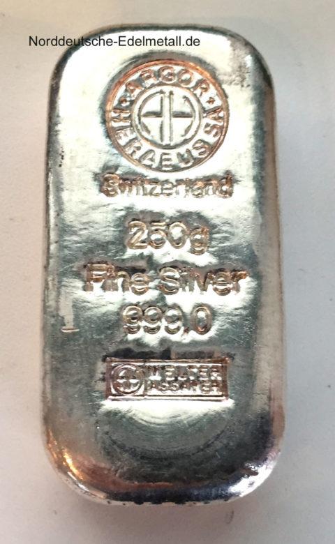 Silberbarren-250g-Argor-Heraeus-Feinsilber-999