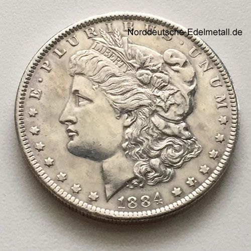 Usa Liberty One Dollar 1884 Morgan Dollar Silbermünze