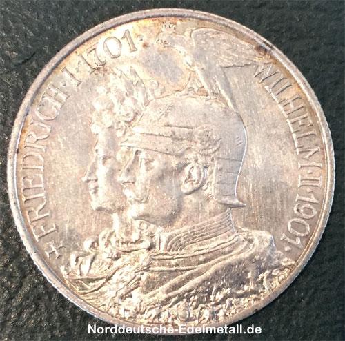 Deutsches Reich 2 Mark Friedrich I-Friedrich II 1701-1901