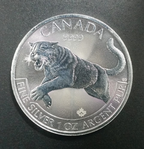 Kanada 5 Dollar Silber Tiger