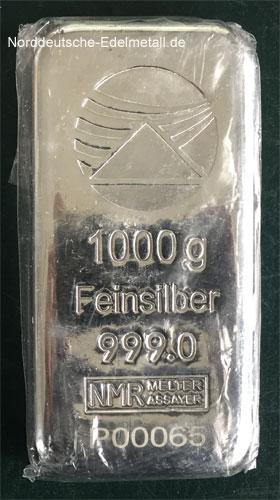 Silberbarren 1000g Feinsilber 999 Schweiz originalverpackt
