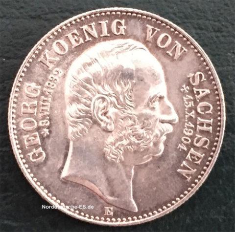 Deutsches Reich 2 Mark Georg Koenig von Sachsen