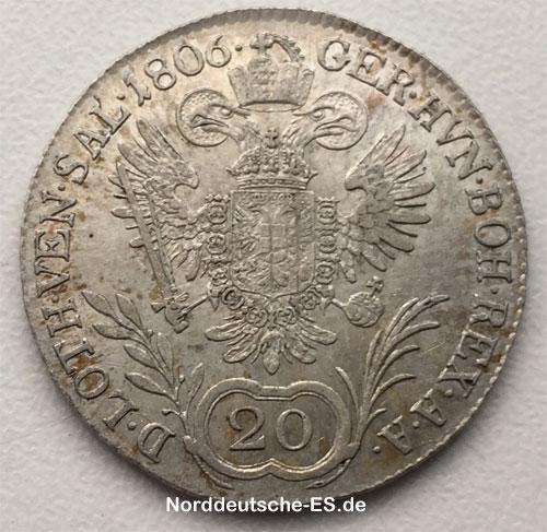 Silbermuenze-20-Kreuzer-1806