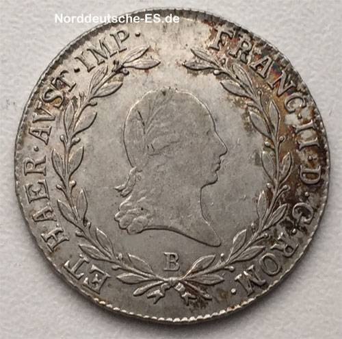 Austria Venedig Salzburg 20 Kreuzer Franz II Habsburg 1806