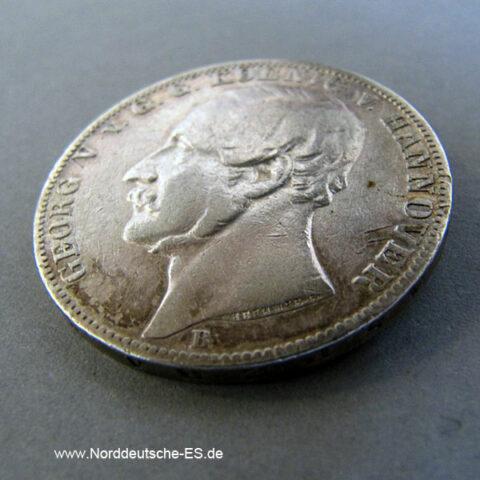 Vereinsthaler Georg V König Hannover 1861 B