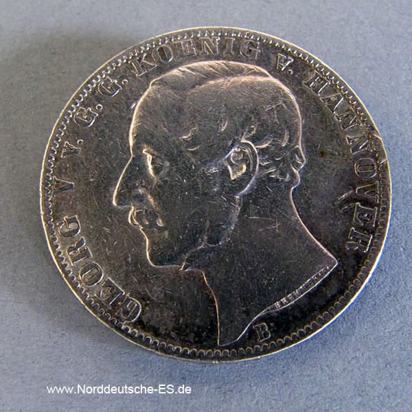 Vereinstaler 1861 B Braunschweig-Calenberg-Hannover Georg V. 1851-1866