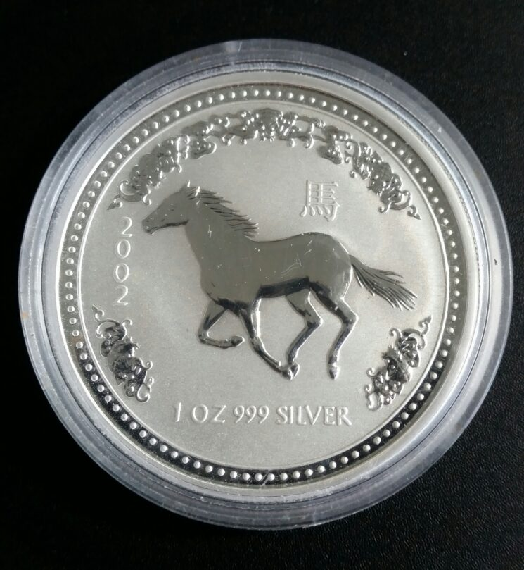 Australien 2002 Year of the Horse 1oz Feinsilber 999