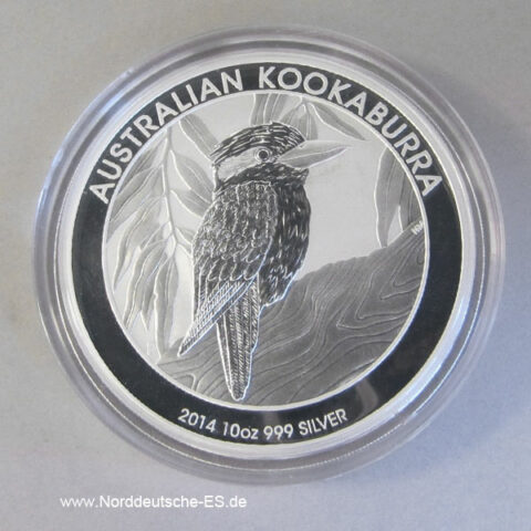 Australien Kookaburra 10 Oz Silber 2014