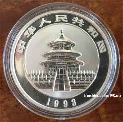 China Panda 5 Yuan 1_2 oz Feinsilber 999