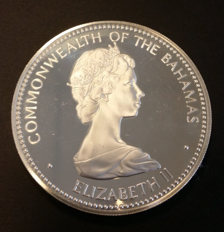 Commonwealth of the Bahamas Silber 10 Dollars 1973