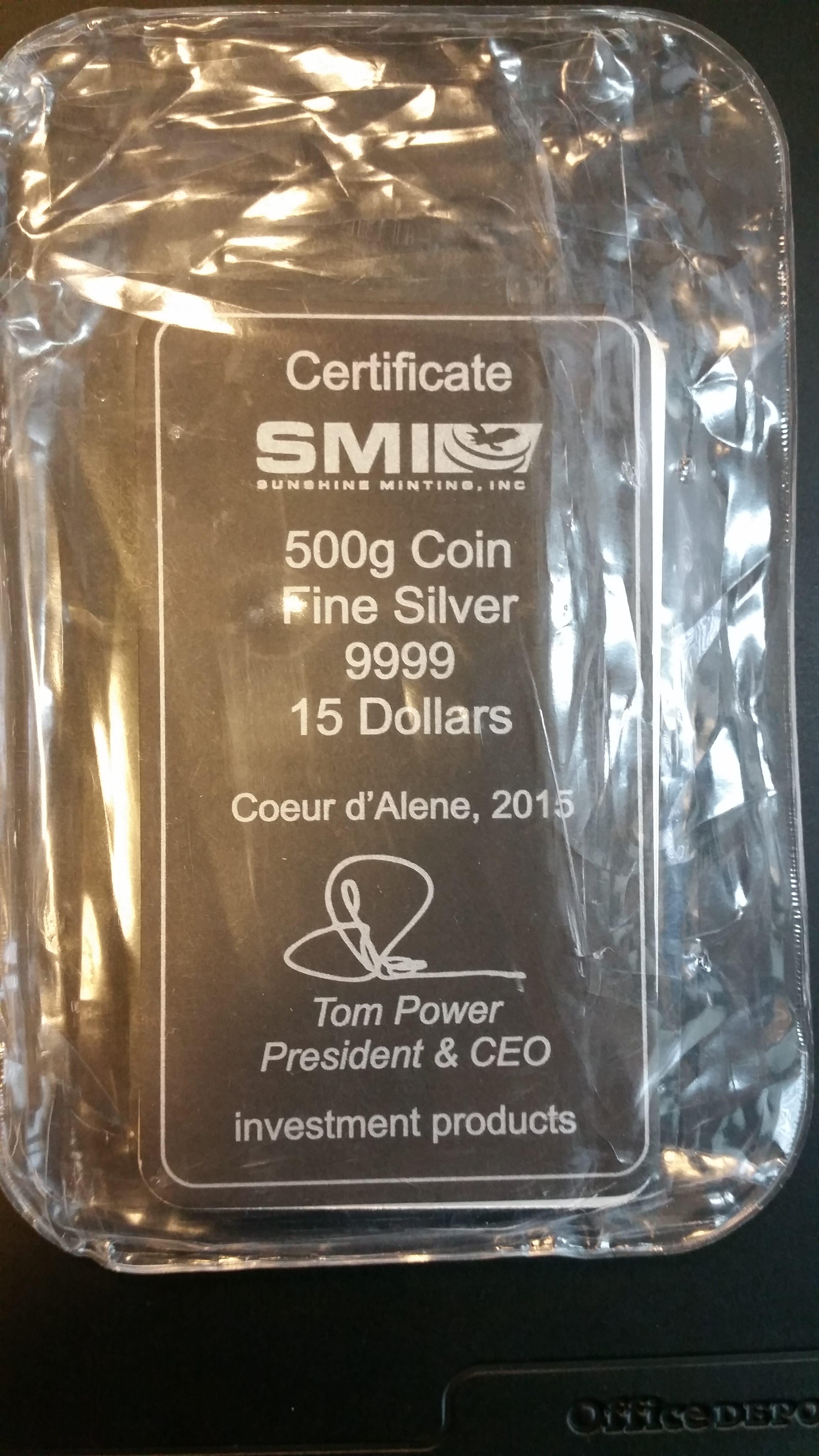 Cook Islands Silber 500g